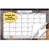 Desk Pad - Monthly - 11x17 - Wood