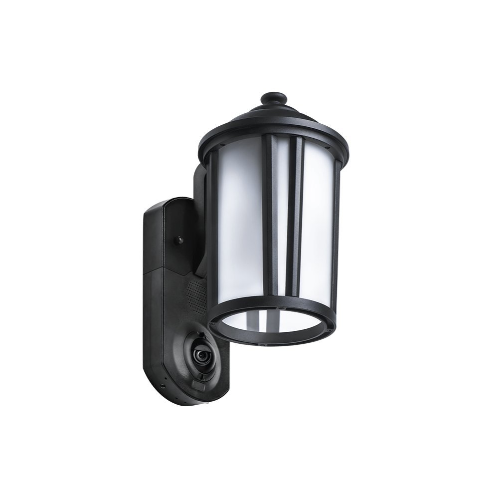 Maximus Video Security Camera & Outdoor Light - Traditional Black - Works with Amazon Alexa by Maximus