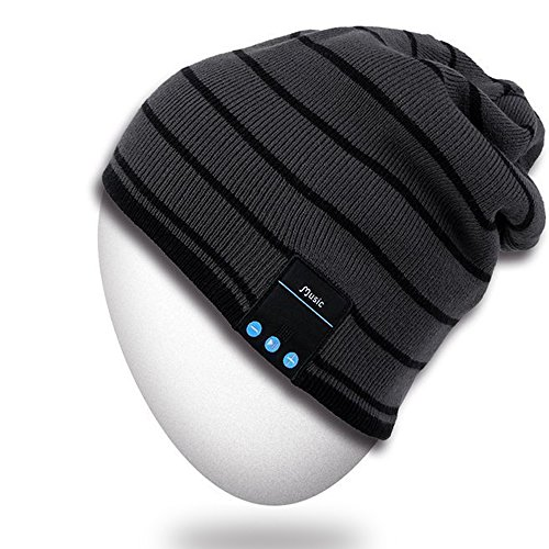 Bluetooth Beanie Hat,Rotibox Winter Outdoor Sport Premium Knit Cap with Wireless Stereo Headphone Headset Earphone