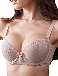 Sexy Push up Memory Foam Padded Bra, Seductive Lace Full Coverage and Smooth Demi Bras for Women - 2 Styles