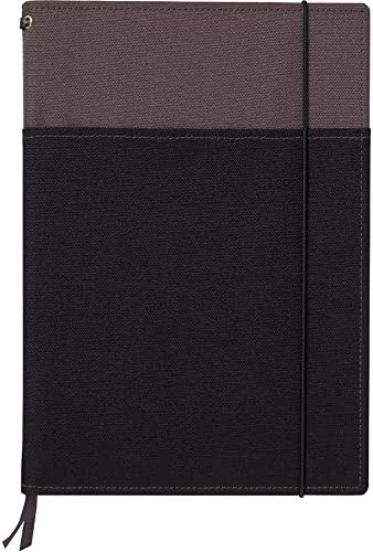 "Kokuyo Systemic Refillable Notebook Cover - Semi B5 (7"" X 9.8"") - Normal Rule - 30 Lines X 40 Sheets - Gray / Black (japan import)"