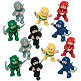"Amscan Fun-Filled Birthday Party Mini Ninja Action Figure Favour (Pack of 12), Multicolor, 1 7/8"" x 1"" x 5/8"""