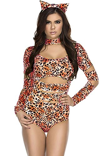 Charming Cheetah Sexy Cat Costume [FREE STANDARD SHIPPING]SIZE: ONE SIZE/FREE SIZE
