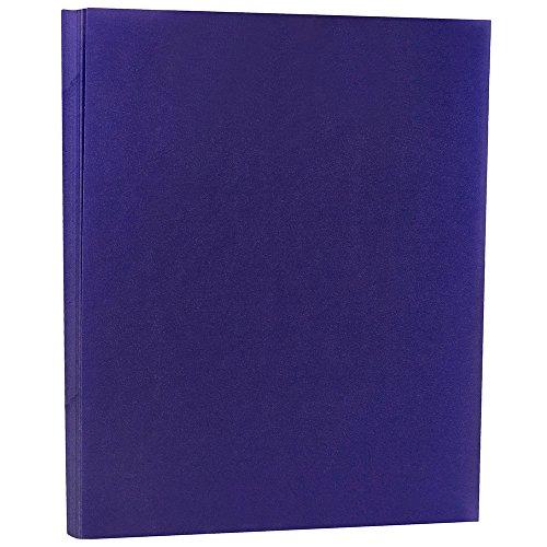 JAM PAPER Translucent Vellum 43lb Cardstock - 8.5 x 11 Letter Coverstock - Primary Blue - 50 ()