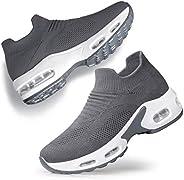 Vibdiv Women's RoadRunning Shoes - Slip-on Tennis Shoes Mesh Walking SneakersComfortableWork Nursing S
