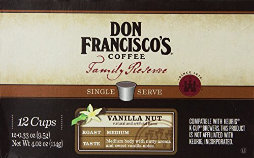 Don Francisco's, Family Reserve, Vanilla Nut, Single Serve Coffee, 12 Count, 4.02oz Box (Pack of 3) (Don Francisco Coffee K Cups compare prices)