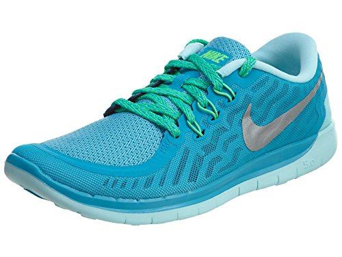 Nike Free 5.0 (GS), Zapatillas de Running para Niñas Blue Lagoon/Midnight Navy/Copa/Metallic Silver