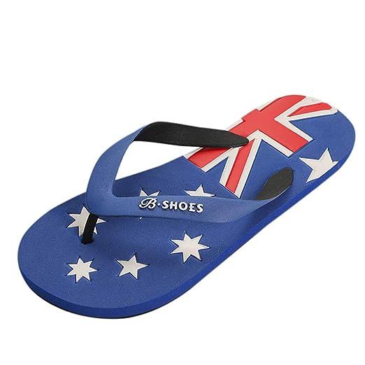 Zapatos de Hombre,PANPANY Antideslizantes Sandalias de Bandera Americana Chanclas Playa Zapatillas de Plataforma Shoes Moda Sandal Confort Chanclas: ...