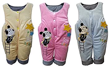 7ec6e60cb baby boy girl unisex quilted dungarees overall pramsuit 3-6 6-9 9-12 ...