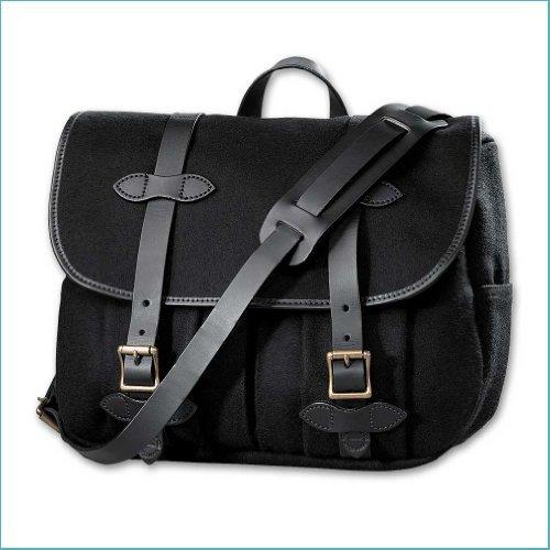 Filson Wool Field Bag - Medium (Black) (Medium Field Bag)
