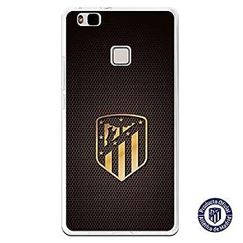 Atlético de Madrid Carcasa Escudo Oro Huawei P9 Lite: Amazon ...