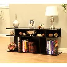 Frenchi Home Furnishing Wood/Console Sofa Table, Black