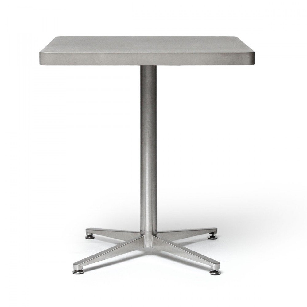 Lyon Beton Bistro Table Square Indoor Outdoor Concrete Metal H75
