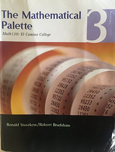 The Mathematical Palette Math 120: El Camino College