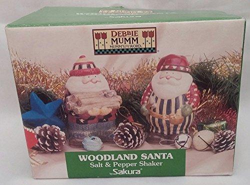 Sakura salt & pepper shaker woodland Santa  Debbie Mumm ()