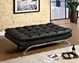 Furniture of America Adelle Convertible Sofa/Futon, Black