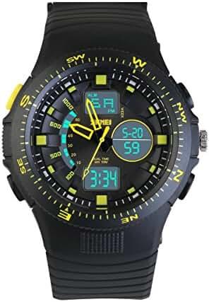 NICERIO Dual Display Wrist Watch Waterproof Children's Boys Girls Sport Digital Watch with Alarm Stopwatch