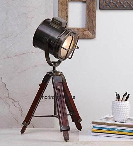 Designer Spot Light marine nautical Table Lamp Searchlight With Tripod Stand