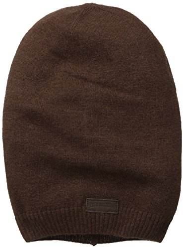 True Religion Men's Slouchy Beanie, Coffee Bean, One Size - Brown Cotton Beanie
