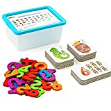 Toys : LiKee Alphabet and Number Flash Cards Wooden Jigsaw Puzzle Peg Board Set Preschool Educational Montessori Toys for Toddlers Kids Boys Girls 3+ Years Old (36 Cards and 37 Wooden Blocks)