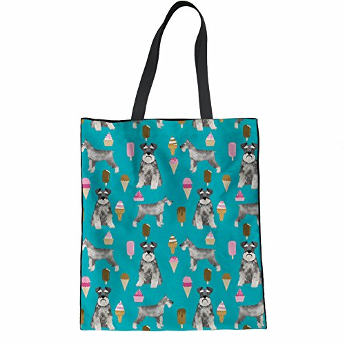 Handbag Cute Grocery Ladies Elephant Schnauzer Tote Print 2 Bag Shopping Cartoon Coloranimal zwqdx81z