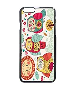 "Original Customized Art Design Sun Colorful Owl with Flower Vogue Picture Printed Hard Customized Case Cover , Iphone 6 (4.7"") Case Cover, Protection Quique Cover, Perfect Fit, Show Your Own Personalized Phone Case for Iphone 6 - 4.7 Inches"