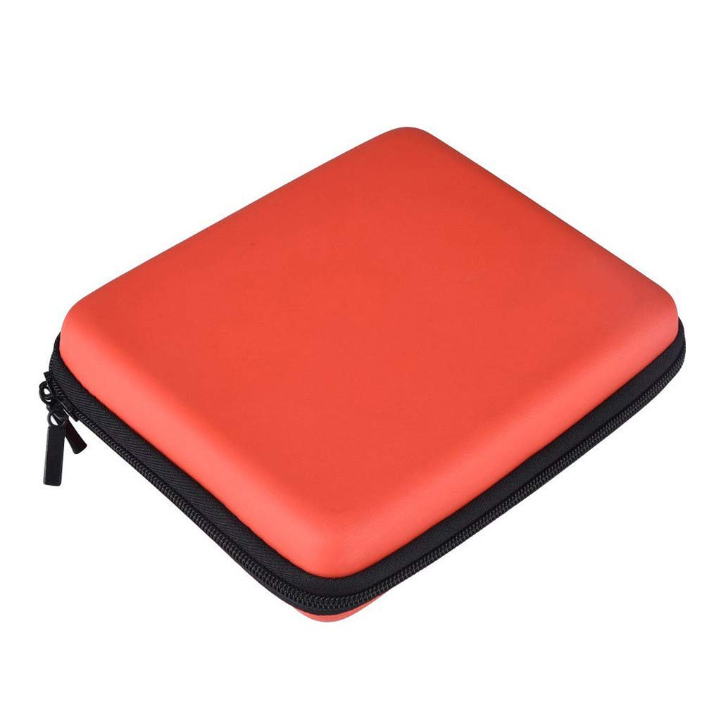 Hard EVA Storage Zip Case Detachable Hand Wrist Strap Portable Storage Bag Suitcase for Nintendo 2DS (Red)