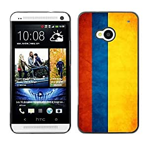 Shell-Star ( National Flag Series-Colombia ) Snap On Hard Protective Case For HTC One (M7)