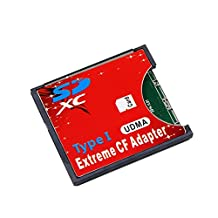 ChenYang SD SDHC SDXC to High-Speed Extreme Compact Flash CF Type I Adapter For 16/32/64/128 GB