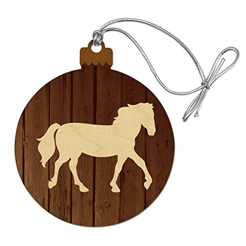 GRAPHICS & MORE Horse Silhouette Cowboy Western Wood Christmas Tree Holiday ()