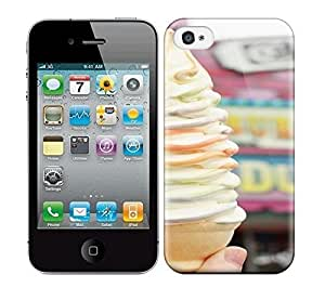 Best Power(Tm) HD Colorful Painted Watercolor Ice Cream Hard Phone Case For Iphone 4/4S