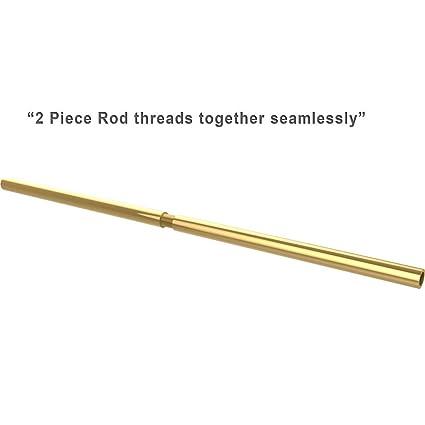 Polished Brass Shower Curtain Rod.Amazon Com Md Group Brass Shower Curtain Rod 60 Inch 60