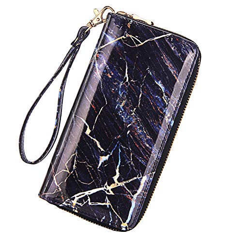 Women's Marble Printed Wristlets Wallet Phone Clutch Purse Card Holder Organizer