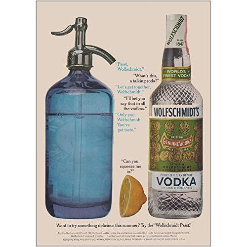 - 1962 Wolfschmidts Vodka: Try Something Delicious This Summer, Wolfschmidt Vodka Print Ad