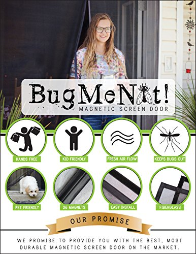 Velcro Style Closure - Magnetic Screen Door Full-Frame Velcro Edges 26 Concealed Magnets Hands Free Closes Automatically, Fits French Doors, Sliding Glass Doors, Double Doors: (72