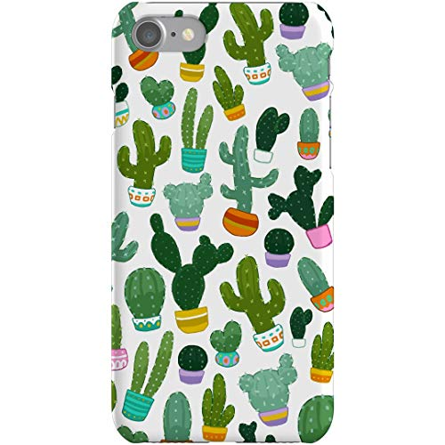Cute Cactus Succulent Print Pattern: iPhone 7 Slim Fit Snap Case
