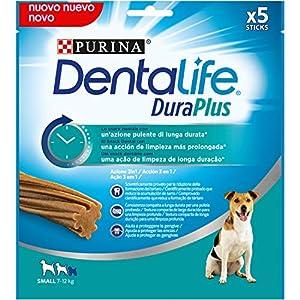 Purina DentaLife DuraPlus – Snack Dental para Perros Pequeños, 5 x 170g
