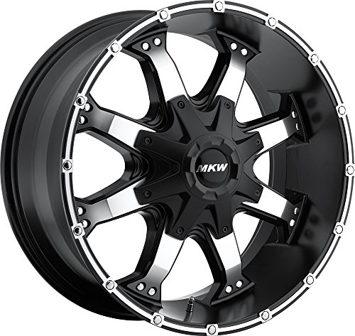 MKW Offroad M83 Satin Black Wheel with Machined Finish (1...