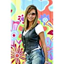 Interstate Leather Ladies Side Laced Vest (X-Large)
