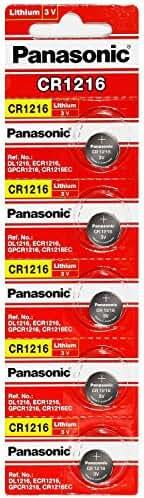 Panasonic CR1216 3 Volt Lithium Coin Battery (5 Batteries)