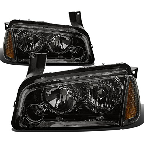 Driver and Passenger Side DNA Motoring HL-OH-HC01-CH-AM Headlight Assembly