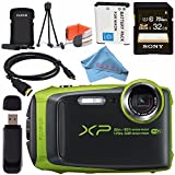 Fujifilm FinePix XP120 Digital Camera Bundle (32GB, Lime)