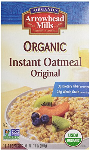Arrowhead Mills Instant Oatmeal, Original Plain, 10 ct, 10 oz