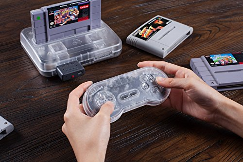 Amazon com: 8Bitdo SN30 Retro Set (Transparent Edition