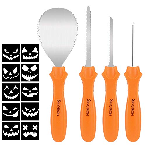 Pumpkin Carving Kit, 4 Pieces Heavy Duty