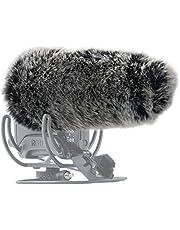 SUNMON Microphone Furry Windscreen, Dead Cat Wind Muff Mic Windshield Fur Foam Cover as Pop Filter Compatible with Rode VideoMic Pro+ Plus Camera Microphone