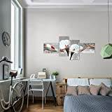 Bilder-Blumen-Calla-Wandbild-Vlies-Leinwand-Bild-XXL-Format-Wandbilder-Wohnzimmer-Wohnung-Deko-Kunstdrucke-Braun-4-Teilig-100-MADE-IN-GERMANY-Fertig-zum-Aufhngen-008242a