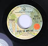 Wallis 45 RPM Where The Boys Are / Where The Boys Are