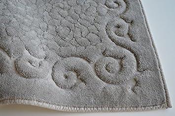 Tris parure tappeti bagno art regal colore grigio amazon casa