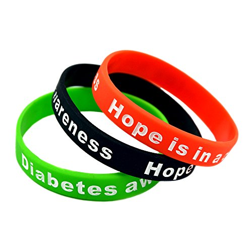 Mammoth Sales Hope Is In A Cure Diabetic Diabetes Silicone Bracelet Wristbands - Set of (Mammoth Sporting Goods)